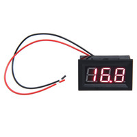 Wholesale inch LCD DC V Red LED Panel Meter Digital Voltmeter With Two wire HB88
