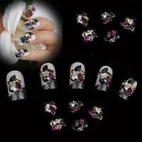 acrylic nails beauty supplies - 10pcs Beauty Rhinestones To Nail Supplies Tips Sticker Beauty for UV Acrylic Nails Metal D Nail Art Decoration