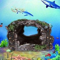 Wholesale New Hot Simulation Resin Rockery Fish Tank Ornament Aquarium Decor Antique Bucket