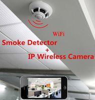 Wholesale P2P Wireless IP Network Camera UFO Wifi Cameras Smoke Detector DVR Digital Video Recorder Cam Security System