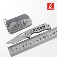 belt buckle collection - Special design portable pocket knife belt buckle combination hollow handle knife multi knife for man collection knife SL P385L