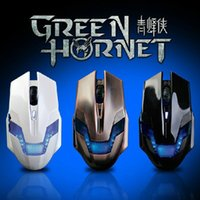 Wholesale A JAZZ AJAZZ USB DPI Green Hornet Buttons Professional Wired Game Gaming Optical Mouse Black