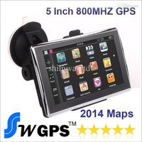Wholesale Inch Car GPS Navigation MTK MS2531 MHZ S CPU FM Transmitter WinCE RAM MB Build in GB Flash With New Maps
