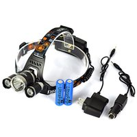 Wholesale 5000LM x CREE XM L T6 LED Headlamp Headlight Head Light Lamp x Charger