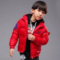 Wholesale Children s Down Coat Retail New winter boy coat boys cotton padded jacket Kids winter duck down cotton coat
