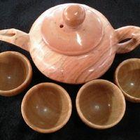 antique hip flask - Natural wood stone tea sets authentic jade jade antique health care tea set tea pot hip flask suits furnishing articles