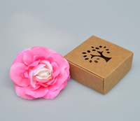 apparel recycling - Cheap plain kraft soap packaging cardboard gift Box recycled kraft soap boxes with tree window