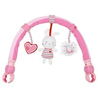 Wholesale Toys for baby month collection bunny music rabbit baby bed clip to hang a bell with original PVC bag Retail Christmas Gift
