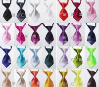 Wholesale 100 Fashion Polyester Silk Pet Dog Necktie Adjustable Handsome Bow Tie Necktie Grooming Supplies GLD1