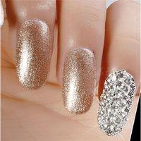 Wholesale New Optional D Shiny Nail Alloy Rhinestone Metal Nail Art Tip Zircon Design Glitters Decoration