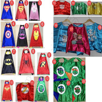 Wholesale Superhero Cape Superman Batman Spiderman Teenage Mutant Ninja Turtle Frozen Flash Supergirl Batgirl Robin kids capes
