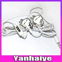 anime mic - with Mic Microphone rabbit anime Cartoon Earphones mm In ear Cute Headphones for Music Lovers Mp3 Player