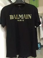 Wholesale Balmain short sleeve collor White Black Blue Red Cotton Men s New T Shirt Size ANY SIZE Hott