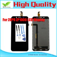 Zopo LCD Screen Panels  1pcs lot High quality good testing LCD Screen For ZOPO ZP1000 touch screen+LCD Screen assembly display with tools free shipping