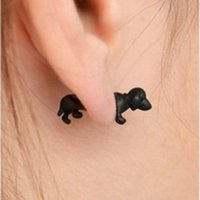 Wholesale Factory C365 Korea cute dog mini stereo animal earrings earrings and puncture Harajuku Valentine s day Gifts