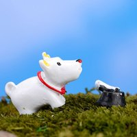 Wholesale Mini Dog Three Piece Suite DIY Micro World Moss Micro Landscape Gardening Resin Decoration