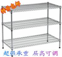 bamboo flooring finish - Stainless steel color three kitchen shelving storage rack shelf floor rack storage rack finishing frame home