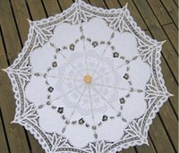 Wholesale Wedding Decorations Wedding Garden Party Supplies Performance Photograpy Props Umbrella Lace Hand Made Vintage Mood Bride Sunshade S005