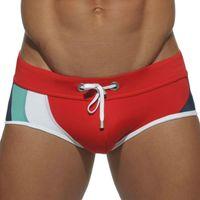 Cheap Wholesale-sexy men's swim trunks designer swimwear mens bikini swimwear patchwork male bikini swimsuit gay men sunga board shorts