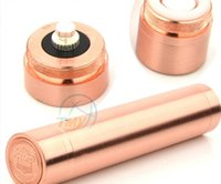 Cheap 18650 mechanical mod e cig magnet mod copper penny mod electronic cigarette Penny V2 Mod red copper e cigarette 18650 18350 mod for 510 RDA