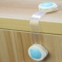 Wholesale 10pcs baby safety locks Fridge Cabinet Door Drawers Refrigerator Toilet for kid child lock protectores infantiles household products