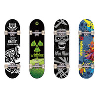 skateboards - WIN MAX Plies Maple Double Kick Concave Deck Sports Bat Radiation Skating Skateboard for Primary Intermediate