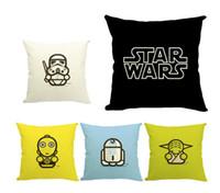backrest pillows - Star Wars PP cotton pillow CM Yoda Darth Vader cotton pillow family sofa car back backrest Halloween gifts