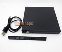 Wholesale IDE Or SATA External Slim Case USB CD DVD CD RM ROM Drive box For Laptop Desktop PC LN003548