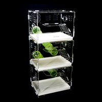 acrylic cages - Three drawers with transparent acrylic pipe hamster cage hamster cage intimate villa small pet supplies empty cage