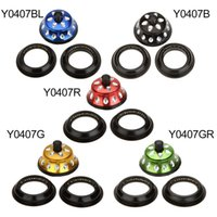 Wholesale Hot Sale Bicycle Headset Aluminium Alloy Bike Threadless Headset Seal Bearing quot for Mountain Bike Cycling Colors