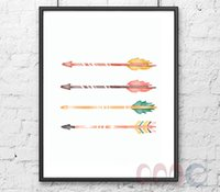 arrow decor - Watercolor Arrows Canvas Art Print Poster Wall Pictures for Home Decoration Wall Decor FA238