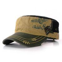 animal bushes - Stylish Fashion Unisex Flat Roof Military Hat for man Cadet Patrol Bush Hat outdoor Baseball Field Caps men