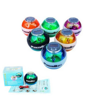 Wholesale by dhl or ems pieces PowerBall Gyroscope LED Wrist Strengthener Ball SPEED METER Power Grip Ball Power Ball