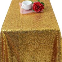 bamboo table cover - Gold Silver x59 quot Sparkly Sequin Rectangle Table Cover Tablecloth For Wedding Party Event Decoration
