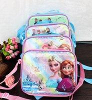 Wholesale Frozen Lancheira Termica Malas Para Viagem Kids Personalized Lunch Bag Picnic Handbag PVC material Cooler Ice Bag School Lunchbox
