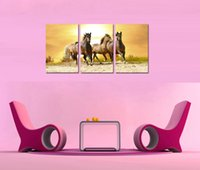 Wholesale Home Decor HD Print Animal art painting on canvas No frame Running horse PC