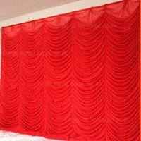 backdrops for parties - x3m White Red Wedding Backdrop Curtain for wedding decoration wedding Drape pipe set wedding curtain backdrops