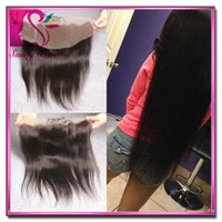 """Cheap Ms lula brazilian Lace Straight 13*4 Ear To Ear Full Lace Front Closure Bleached Knots Can Be Dyed 8""""-20"""" With Baby Hair"""