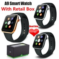 Wholesale New Smartwatches A9 Bluetooth Smart Watch For Apple iPhone Samsung Xiaomi Huawei Android Smartphone Relogio Inteligente reloj Smartwatch