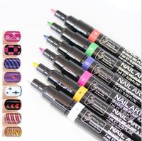 Wholesale Hot Candy Color Non Toxic Nail Polish Nail Gel Polish Pen Nail Art Accessories Dotted Pen for Nail Colors TY1303