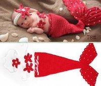 crochet toddler beanie - 50 discount Beauty Mermaid Infant Toddler Boy Girl Baby Beanie Newborn Costume Photo Photography Props Knit Crochet Handmade Cocoon pc set