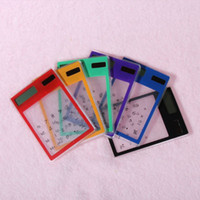 Wholesale L Transparent Calculator Multi color Digit LCD Solar Calculator Touch Screen Counter Calculating Tool