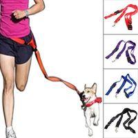 adjustable dog collars - 1pcs Nylon Running Pet Dog Leash Rope Training Slip Adjustable Traction Collar Rope Chain dog harnessTraining Walk L016