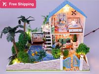 Precio de Amante de bricolaje de madera montar-La decoración del hogar Modelo Romatic amante Casa Ensamble Villa muñeca Inicio / juguete Mini regalo del amante hijos miniatura de madera casa de muñecas
