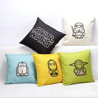 Wholesale Star Wars Cotton Linen Decorative Throw Pillow Case Sofa Chair Cushion Cover Home Decoration style