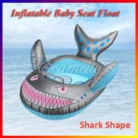 Wholesale Summer Time Shark Shape Baby Child Infant Kids Inflatable Swimming Pool Seat Float Ring Grey Toy