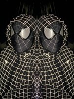Wholesale marvel black The Amazing SpiderMan Fabric Adult Costume Mask lenses lens one size adjust