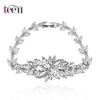 antique cubic zirconia wedding sets - Teemi Fashion Pure Marquise Cut Clear Cubic Zirconia Promotion New Antique Platinum Luxury Wedding Bridal Bracelet Jewerly
