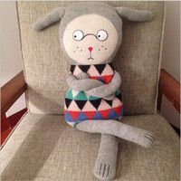 baby doll knitting - 2016 New cm baby gift lucky boy sunday denmark boy sunday hand knit soft kawaii stuffed animals doll plush toy for children