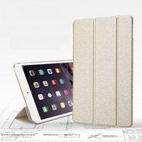 7'' apple ipad shine - New mooke color shining gold fundas tablet cases for iPad mini retina inch PU leather folding smart cover stand